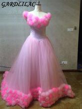 Женское бальное платье из тюля gardlilac розовое свадебное со