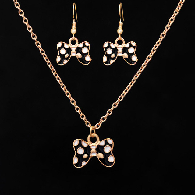 Cute black oil drop butterfly necklaces pendants earrings ring cute black oil drop butterfly necklaces pendants earrings ring small jewelry sets for kids children mozeypictures Gallery