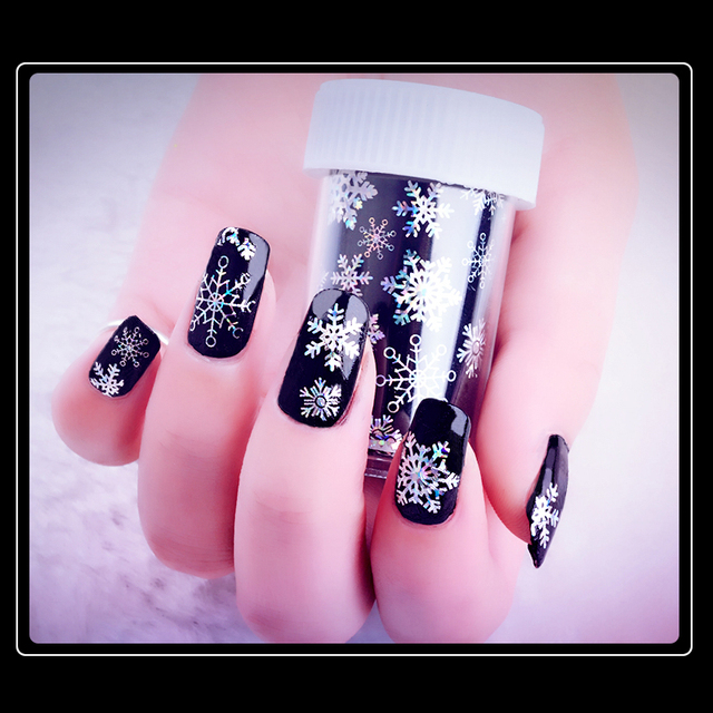 1 Pcs Colors Sliders Nail Design Snowflake Nail Foils Polish Starry