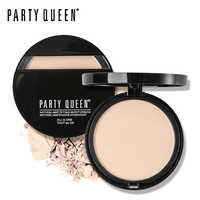 Party Queen Brand Oil-Control Pressed Powder Natural Mineral Face Base Foundation Makeup Matte Finish Contour Palette Concealer