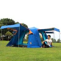 DESERTCAMEL CS090 Tự Động Layers Đúp Lều Di Động Bốn Cửa Vuông Roof Tent Với Thoáng Khí Muỗi Net Đối Cắm Trại NEW