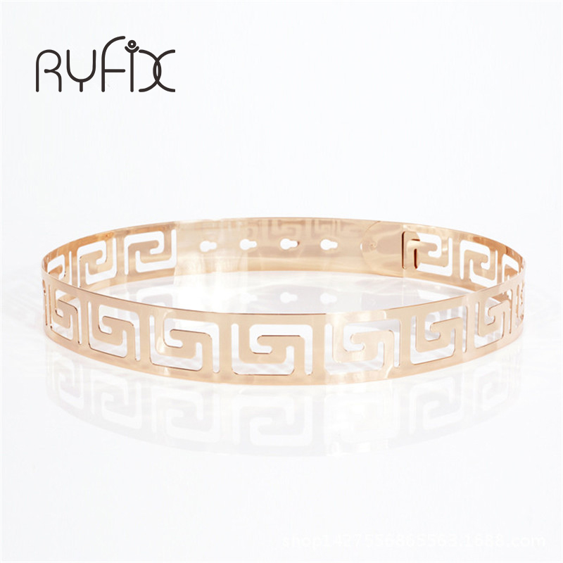 Fabulous 2019 Punk Style Metal Carved Hollow Out Waist Belt High-grade Fashion Waistband For Women Appreal Accessories Bl14 Apparel Accessories