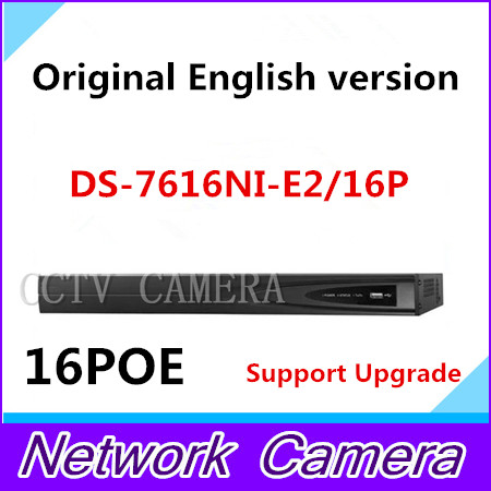 Free shipping Original Overseas DS 7616NI E2 16P Embedded Plug Play NVR Third party network cameras