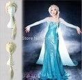 2015 Fashion Queen Elsa Weaving Braid Cosplay Wig  most popular cartoon girl Elsa Hair Wig Free Shipping