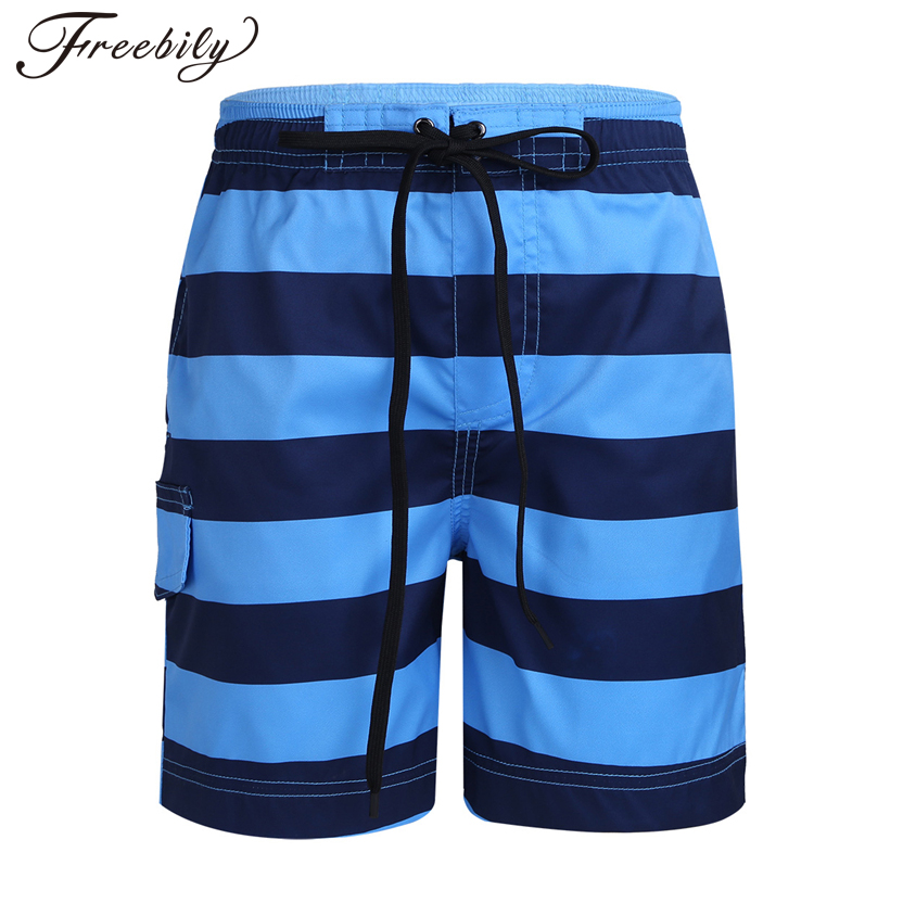 Swimsuit Shorts Trunks Beach-Pants Toddler Kids Waist Stripe with Casual Summer Quick-Dry