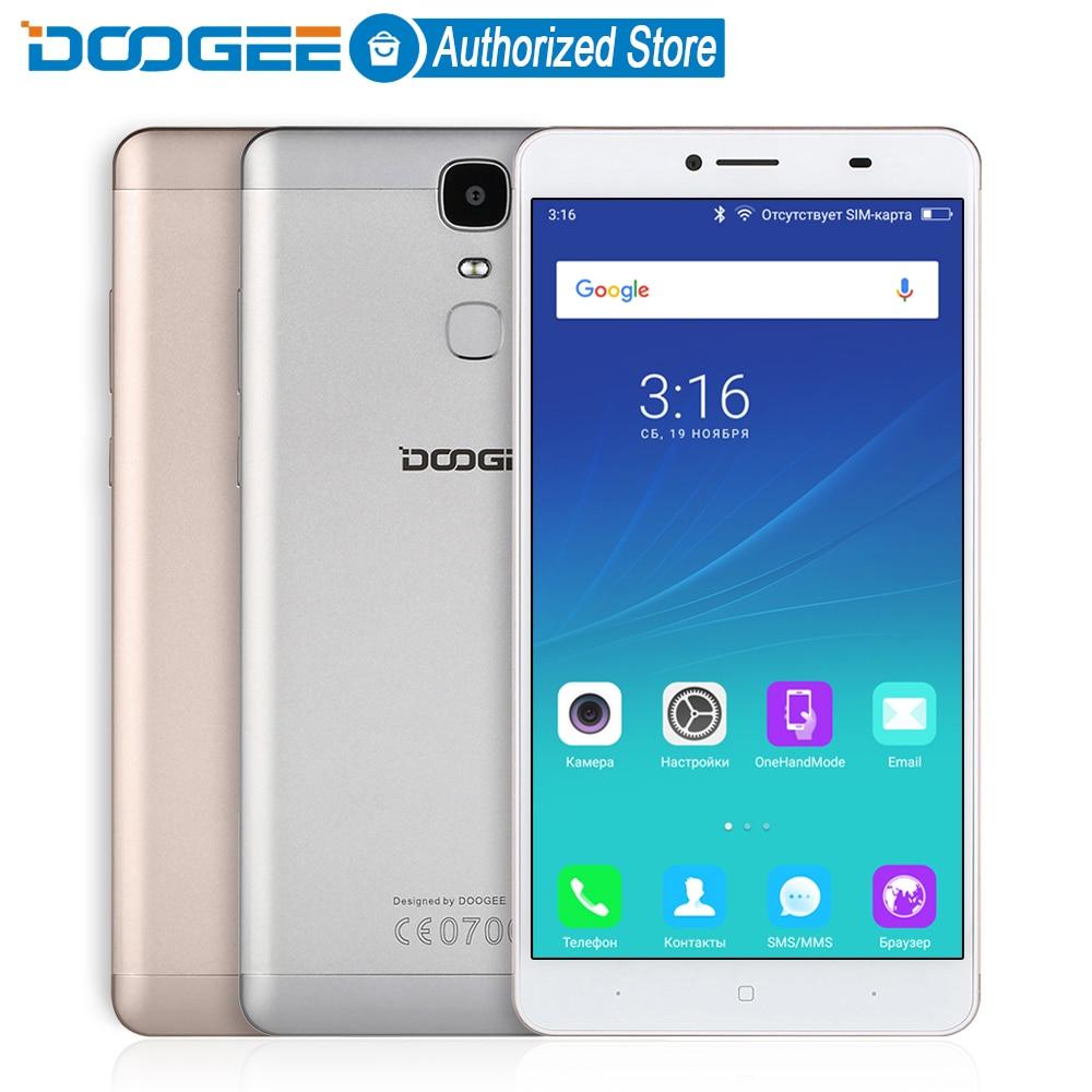 Цена за Y6 doogee макс мобильных телефонов 4 г lte 6.5 дюймов fhd 3 ГБ + 32 ГБ отпечатков пальцев Android 6.0 DualSIM MTK6750 Qcta Core 4300 мАч WCDMA GSM 13MP