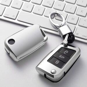 Image 5 - Soft TPU Car Key Remote Case Cover Holder Case For Volkswagen VW Golf 7 mk7 Seat Ibiza Leon FR 2 Altea Aztec For Skoda Octavia
