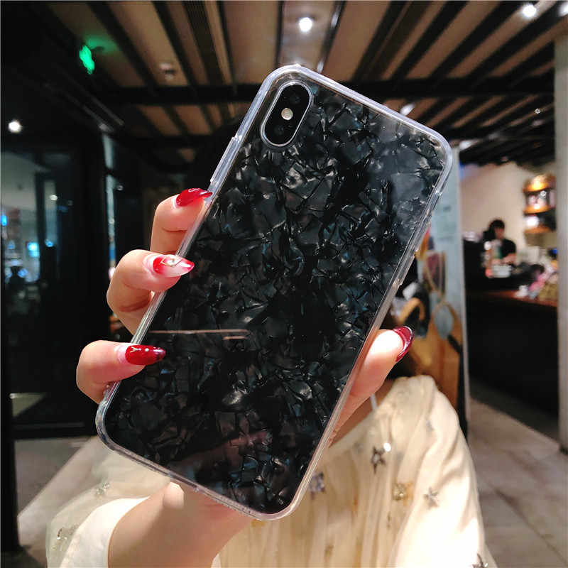 لامع الجمال قوقعة 360 كامل واقية الهاتف خزائن هاتف آيفون XS ماكس XR X 10 8 7 6 s زائد للصدمات صدف غطاء كوكه
