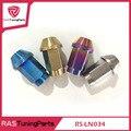 4 pcs oem qualidade peso leve titanium alloy wheel nuts lug rosca sizem12x1.25/1.5 rs-ln034