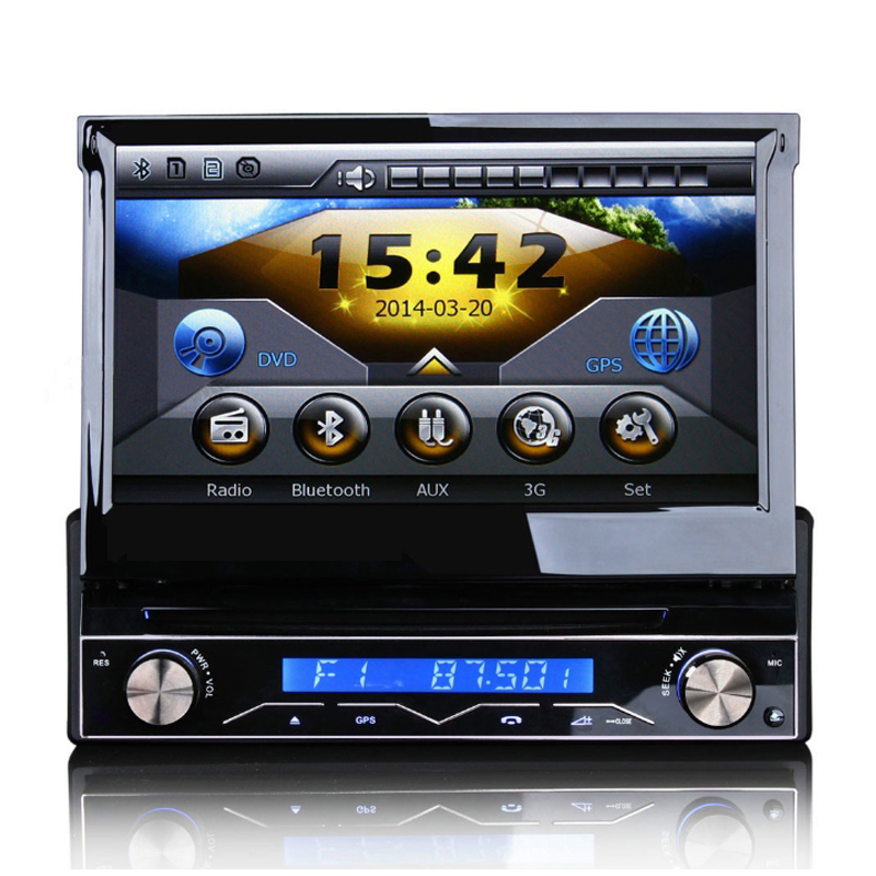 Auto Single Spindle Full Function Car DVD with 7 Inch Full automatic Touch Screen and Detachable Panel Anti theft Function