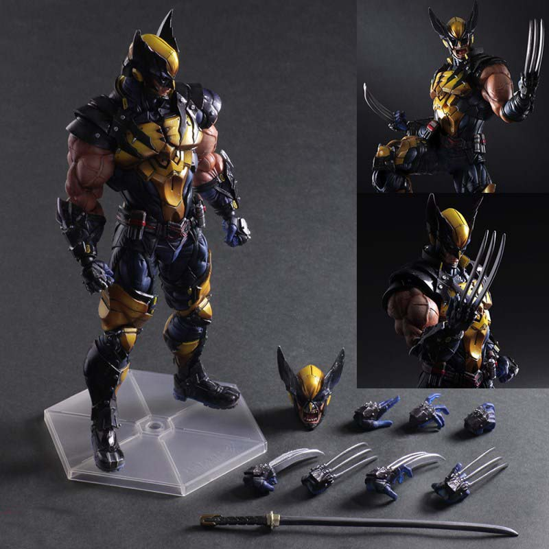 26cm Pa Super Hero X-man Wolverine Doll Play Arts Logan Jointed Move Model classic Action Figures Toy Kids Boy Christmas Gift saintgi iron man avengers generation action figures hot toys super hero collection model toy gift pa change play arts marvel