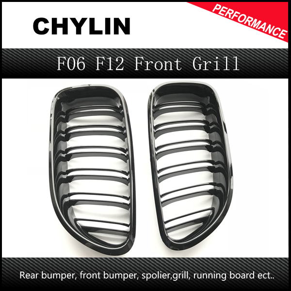 F06 Grill F12 Kidney Front Grille F13 Replacement ABS M6 Bumper Grill for BMW 6 Series Grand Tourer 640i 650i 650 Black Grill image