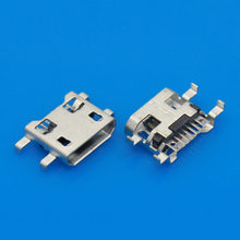 MICRO USB/charging port for mobile phone/tablet /android /7PIN/Flat port/DIP4/ Sinking 0.72mm/for BlackBerry/for Zte/for Huawei(China)