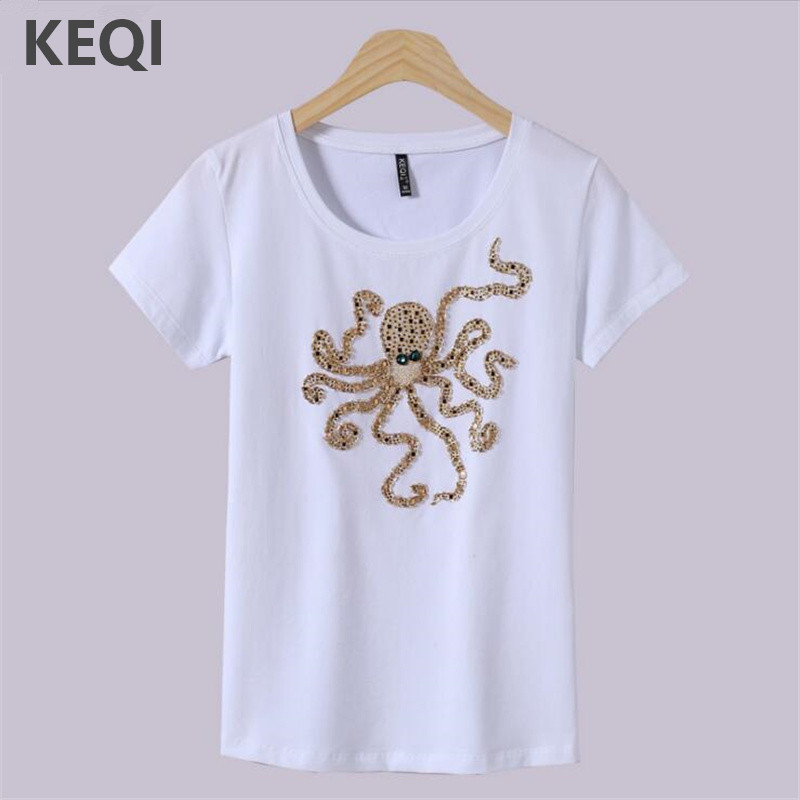 Buy keqi women 39 s top brand cotton women 39 s for Cheap company t shirts