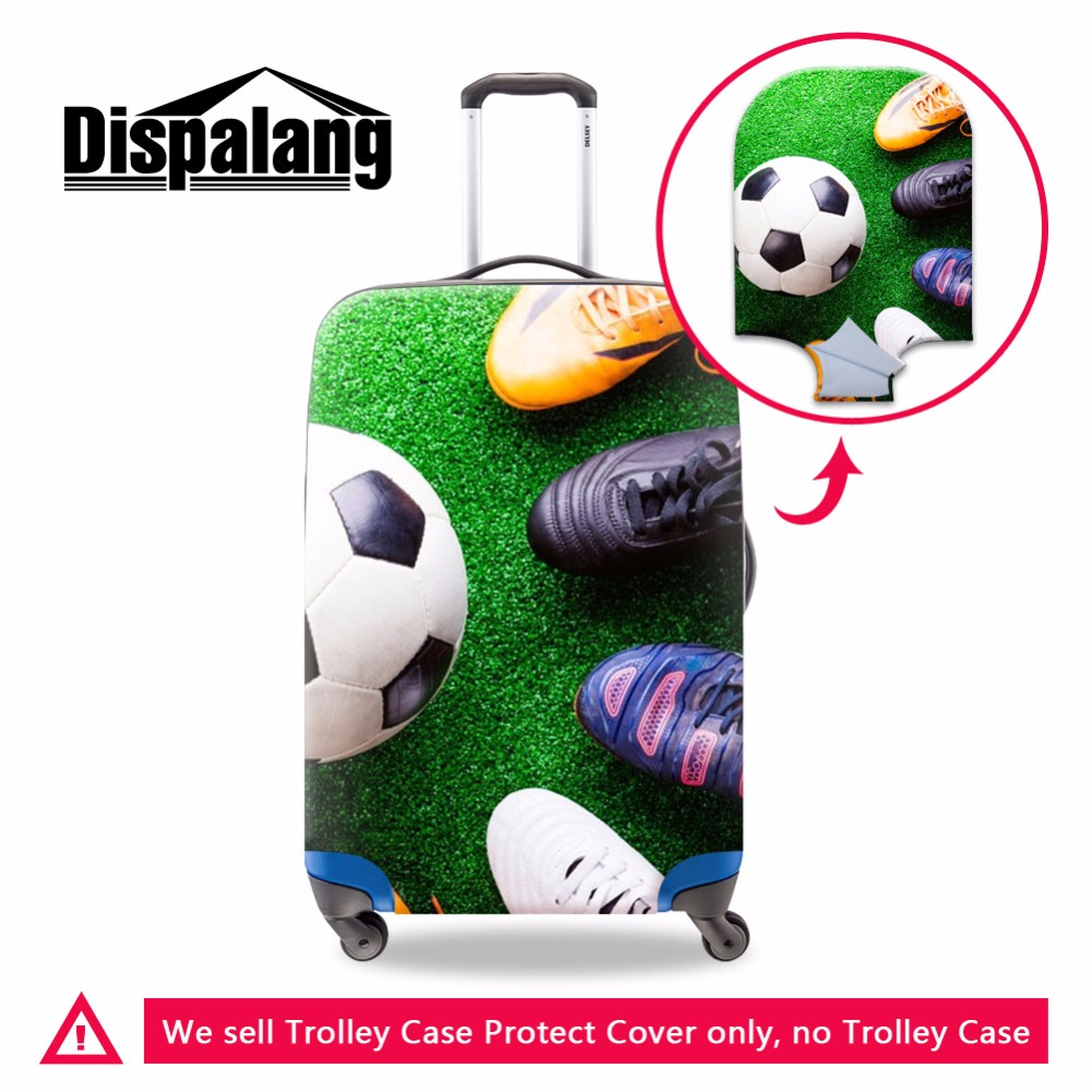 Dispalang Soccerly Luggage Cover for Men Cool Waterproof Thick Luggage Bag Protector Foldable Suitcase Cover Travel Accessories