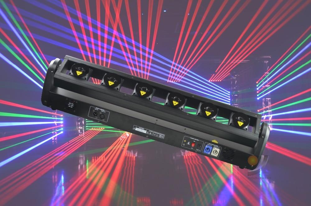 6 Controllo individuale In Movimento Testa Laser RGB per la Fase Spettacolo Effetto Del Partito Della Discoteca Club Apparecchio Laser Evento