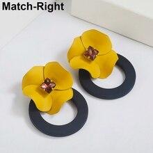 Match-Right Trendy Earrings for Women Flower/ Round/Korean/S