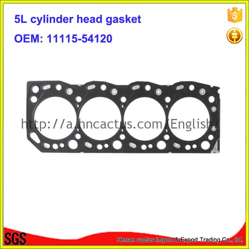 Metal head gasket <font><b>5L</b></font> 11115-54120 cylinder cover gasket <font><b>engine</b></font> head gasket for <font><b>Toyota</b></font> Hilux Hiace 3.0D image