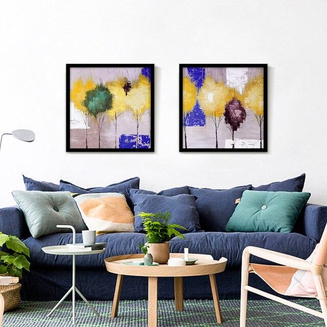 3 44 60 De Réduction Peinture à L Huile Toile Pulvérisation Peinture Jaune Arbre Mur Photo Décoration Accueil Décor Art Impressions Sur Toile Pour