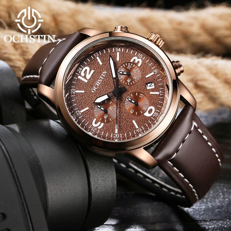 2017 Ochstin Cronógrafo Reloj Casual Hombres Marca de Lujo Deporte - Relojes para hombres - foto 4