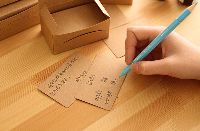 90 Sheetsbox Blank Kraft Cardstock Thick Paper Business Card Gift