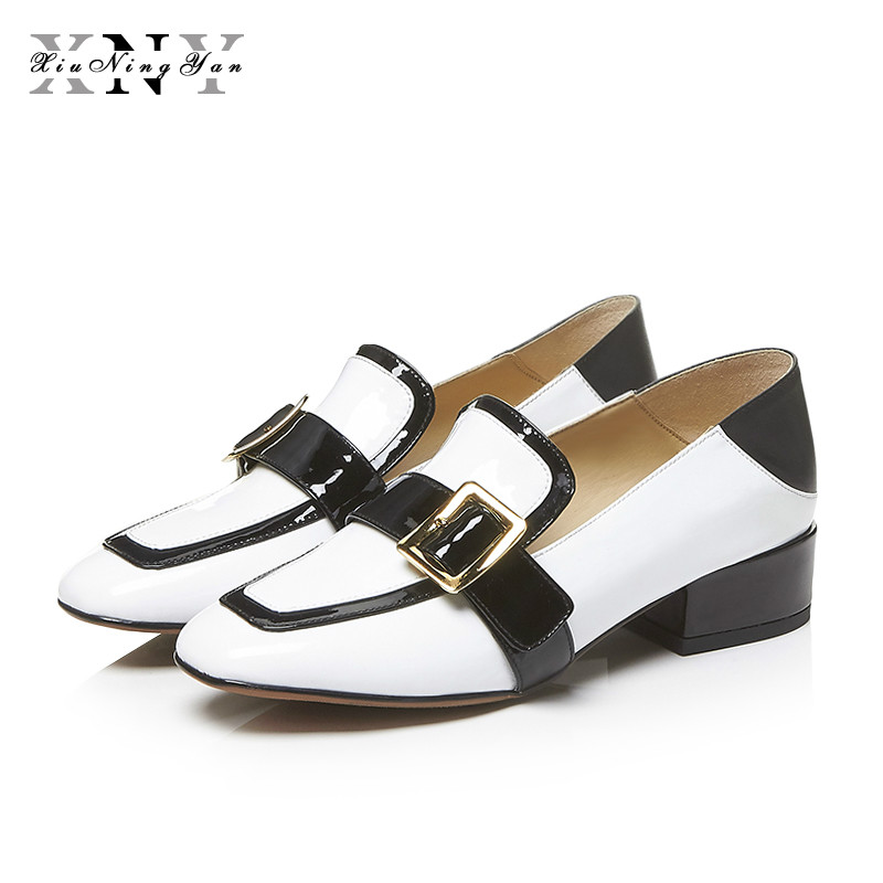Autumn Women Flats Buckle Leather Loafers Women Shoes Female Casual Shoes Chaussure Femme Slip on Ballet  Boat Shoes Moccasins autumn women flats buckle leather loafers women shoes female casual shoes chaussure femme slip on ballet boat shoes moccasins