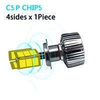 2pcs Car Headlight Bulbs LED 6000K H4 12V LED canbus intelligent decoding chip lens signal lamp Lights d1s led bulb