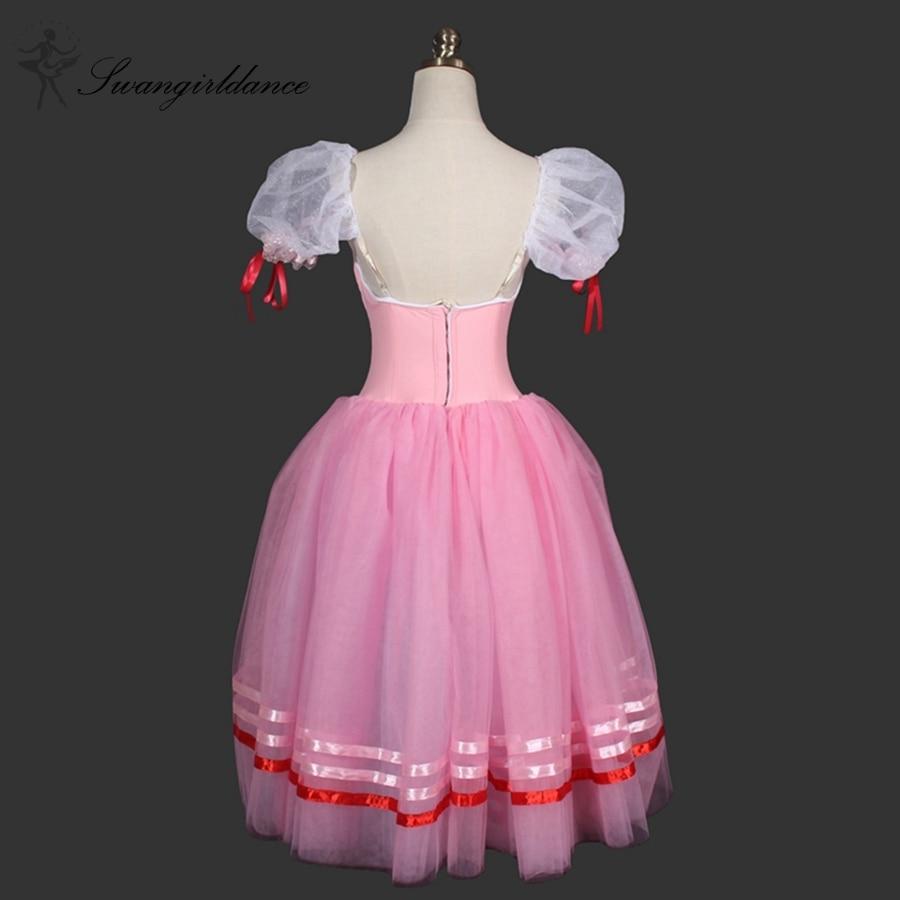 ₩Púrpura Giselle Ballet Tutu vestido, adulto Rosa romántico Ballet ...