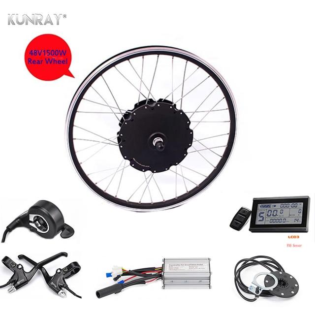 US $221 92 24% OFF|KUNRAY E BIKE 48V 1500W Motor Electric Bike Kit Electric  Bicycle Conversion Kits For 26