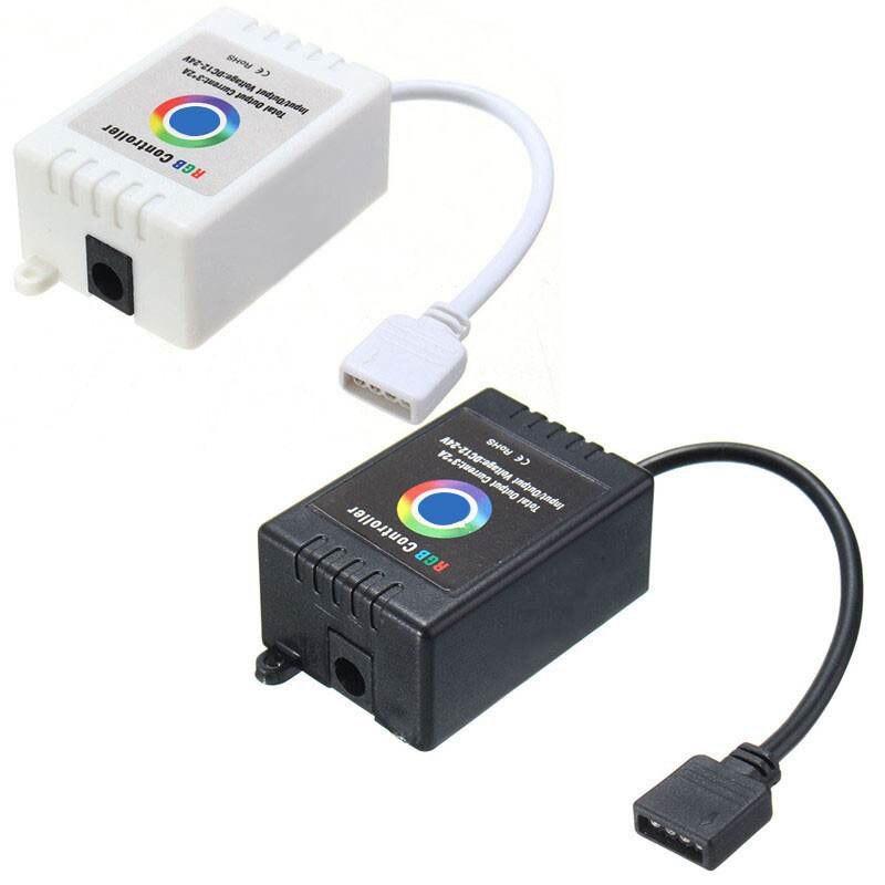 Белый/черный 12-24 В Беспроводной <font><b>Bluetooth</b></font> музыкальный смартфон приложение пульт дистанционного управления RGB для 5050 RGB Светодиодные ленты для IOS &#8230;