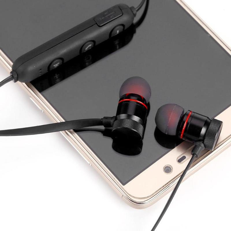 XT6 Wireless Headphone Bluetooth 4 1 Earphone Metal Magnetic Sport Headset in Bluetooth Earphones Headphones from Consumer Electronics