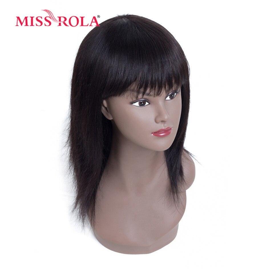 Miss Rola Hair Brazilian Hair # 4 Straight 10 Inches მოკლე - ადამიანის თმის (შავი) - ფოტო 4