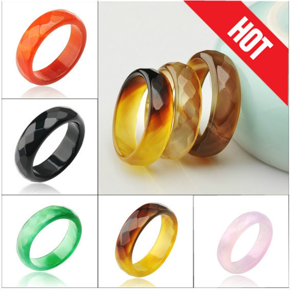 Hot Sale Natural Red Agate Jade Ring Jewelry Semi Precious