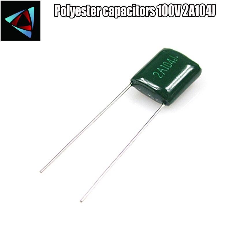5PCS New 2E104J 250V 100NF 0.1uF ±5/% Polyester capacitors CL11