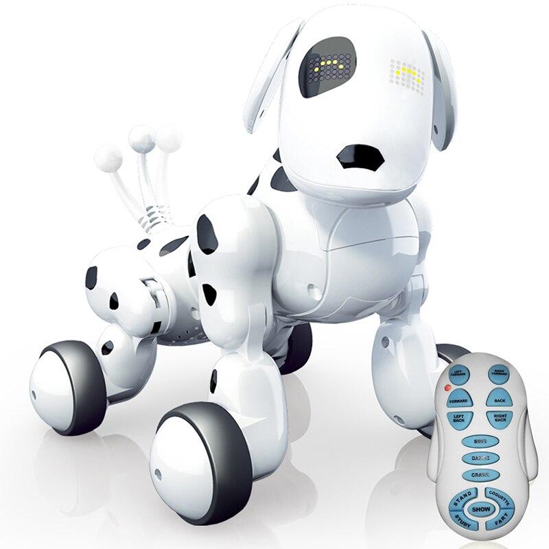 2 4g sem fio inteligente robo de controle remoto cao eletronico danca pet musica educacional interativo