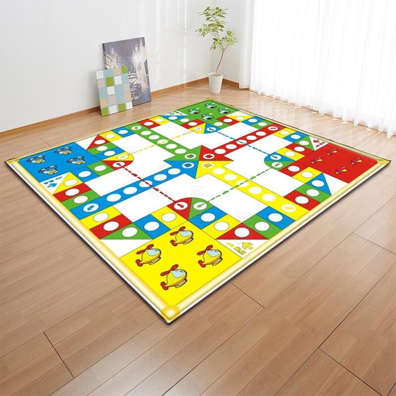 Jeu d'échecs volant créatif 3D impression tapis pour salon chambre chevet moderne antidérapant zone tapis couverture décoration de la maison