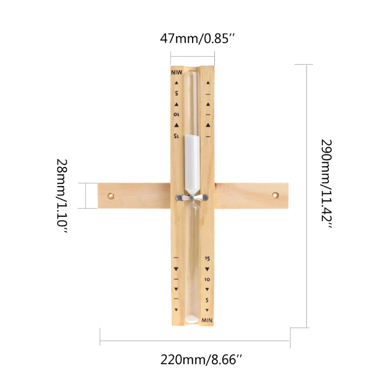 Pour utilisation domestique ou magasin 6 couleurs au choix geneic Sablier mural rotatif en bois pour sauna de 15 minutes