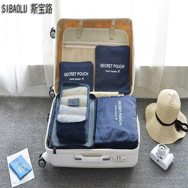 Exceptional SIBAOLU 6 PCS/set Travel Suitcase Closet Divider Container Storage Bag Set  For Clothes Tidy