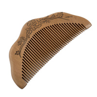 HTHL!New Practical Half Moon Shaped Toothed Healthy Hair Care Sandal Wood Comb