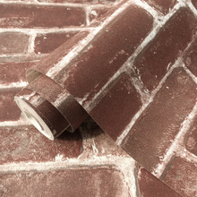 Rustic Vintage 3D Faux Brick Wallpaper Roll Vinyl PVC Retro Industrial Loft Wall Paper Red Black Grey Yellow Washable