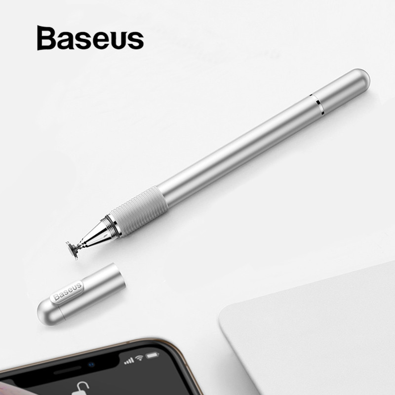 Baseus 2 In 1 Universal Stylus Touch Pen Capacitive Touch Screen Pen For IPhone IPad Samsung Huawei Xiaomi Tablet Touch Pen