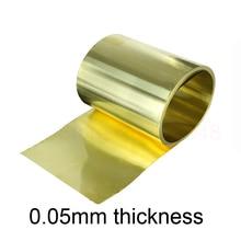 Тонкий латентный латунный лист, желтая медная фольга, латунная пластина 0,05x100x1000 мм, толщина латунной полосы 0,05 мм