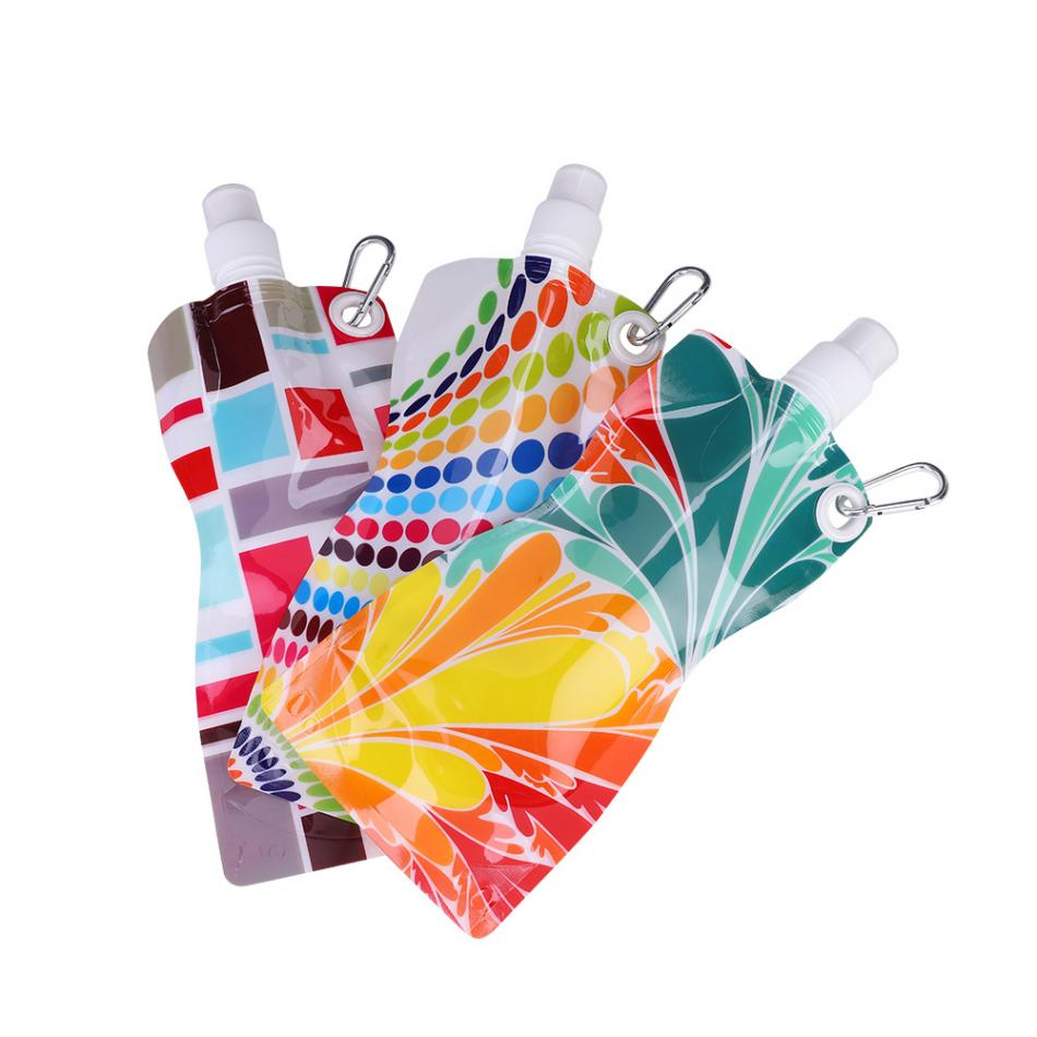 3 шт. 580 мл портативный складной уличный спортивные сумки для воды легкий поход походная сумка для воды легко открыть велосипедную спортивную бутылку