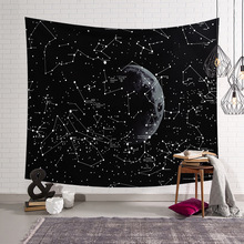 Galaxy psychedelic wall tapestry wall hanging world map 3D print home decor wall blanket farmhouse psychedelic tapestry carpet