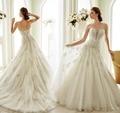 Vestido de noiva sereia Sexy Sirena de Encaje Vestidos de Novia 2017 Sweetheart Apliques Tul Vestidos de Novia Barato Vestidos de Novia