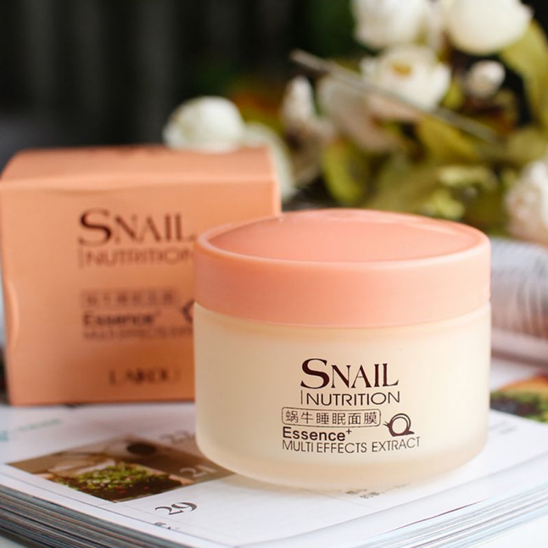 75g Snail Sleeping Mask Essence Moisturizing Night Cream Anti Aging Wrinkle Cream as shown 4