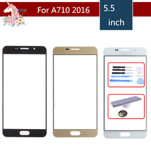 For Samsung Galaxy A7 2016 A710 A7100 A710F A710M A710H Front Outer Glass Lens Touch Screen Panel Replacement