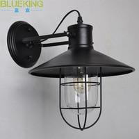 Almacén  jaula para pájaros  lámpara de pared  lámpara de techo retro industrial de país americano  iluminación de barra de doble propósito.|Lámparas de pared| |  -