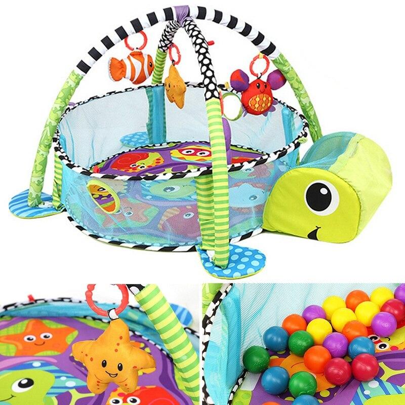 2018 Hot New Baby Toddler Bébé Jouer Ensemble L'activité Gym Jouer tapis tapis de sol Enfants Jouet Tapis Bébé Enfant tente jouet Pour enfants Cadeau