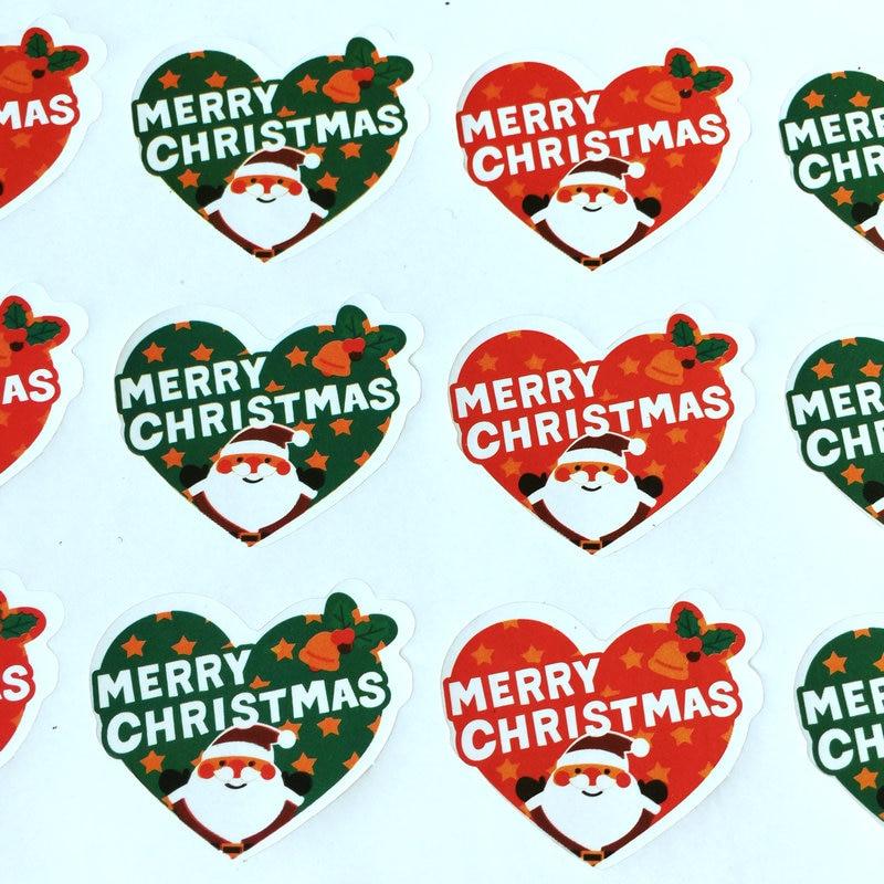 Aliexpress.com : Buy 16PCS/LOT.Merry Christmas heart paper stickers ...